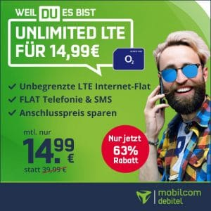 mobilcom-debitel o2 Free Unlimited bei Vitrado Thumbnail