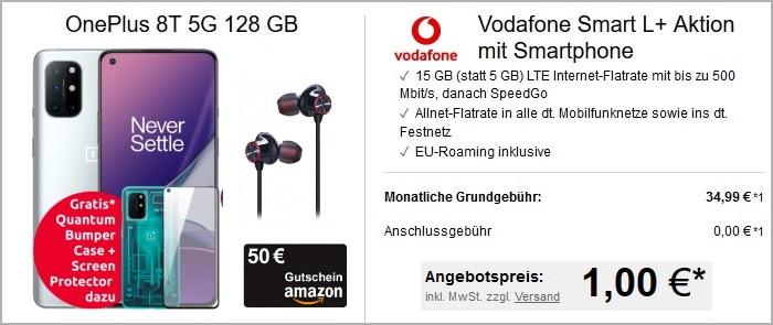 OnePlus 8T mit 4 Zugaben zum Vodafone Smart L Plus bei LogiTel
