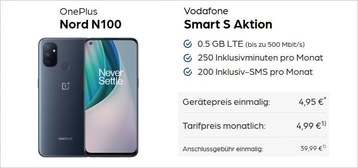 OnePlus Nord N100 mit Vodafone Smart S bei Preisboerse24