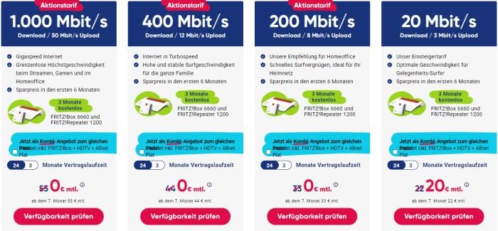 Pyur Kabel Tarife April 2021