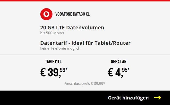 Vodafone DataGo XL bei Sparhandy
