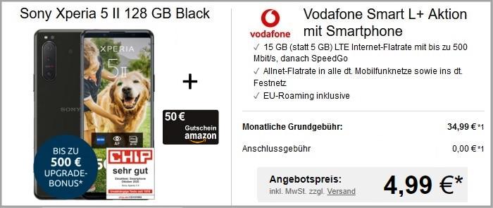 Sony Xperia 5 II zum Vodafone Smart L Plus bei LogiTel