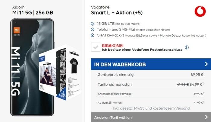 Xiaomi Mi 11 + Ultimate Ears Boom 2 Kool Savas Limited Edition + Vodafone Smart L Plus bei Preisboerse24 AG