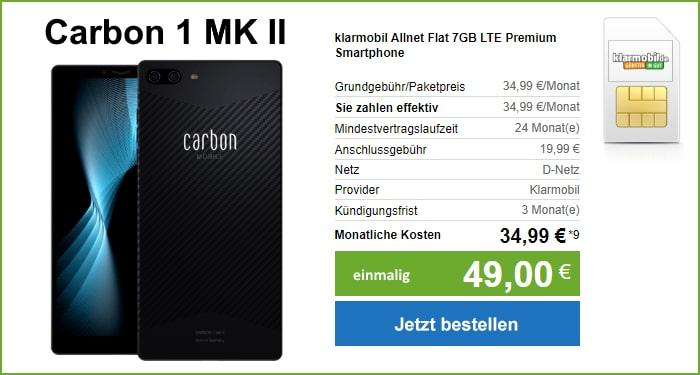 Carbon 1 MK II mit klarmobil Allnet Flat bei modeo