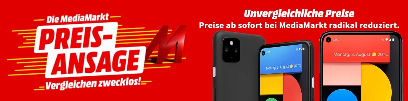 Google Pixel 4a (5G) & Pixel 5 bei MediaMarkt: Smartphones mit purem Android zum Bestpreis