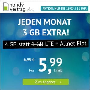 handyvertrag LTE All 3 GB Aktion März 2021 Thumbnail