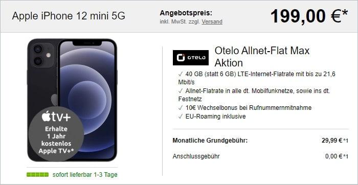 iPhone 12 mini + otelo Allnet Flat Max bei LogiTel