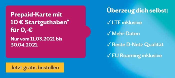 Lebara Prepaid SIM gratis mit 10 € Startguthaben