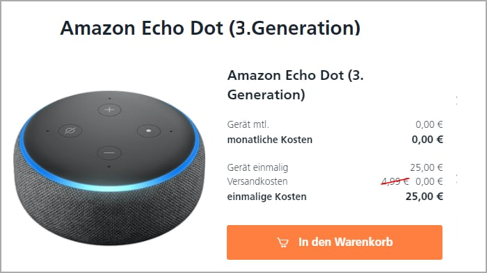 o2 Hardware Sale Amazon Echo Dot