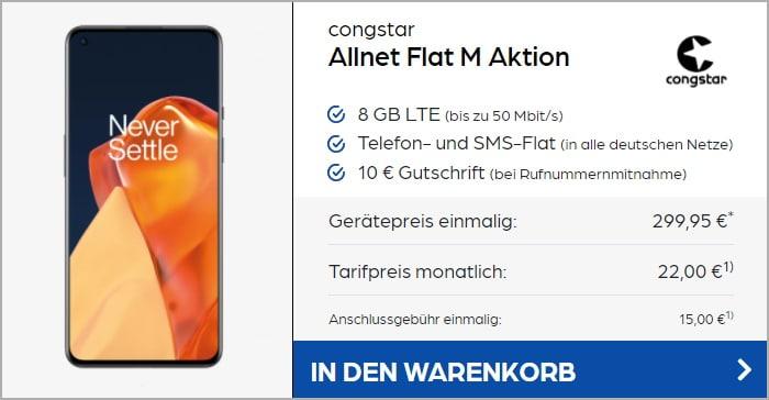 OnePlus 9 + congstar Allnet Flat M bei Preisboerse24
