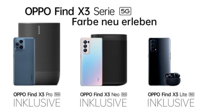 Oppo Find X3 Series Vorbesteller-Aktion