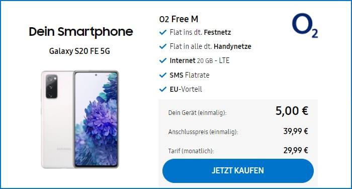 Samsung Galaxy S20 FE mit o2 Free M im Samsung Shop