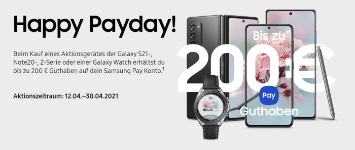 Samsung Happy Payday April 2021