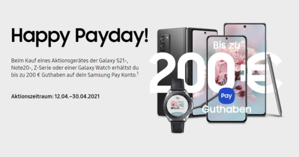 Samsung Happy Payday April 2021 Thumbnail