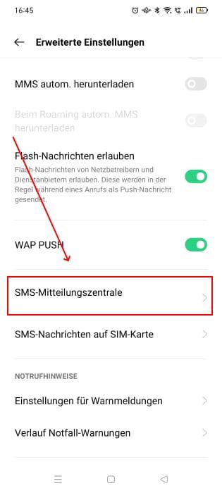 sms-einstellungen