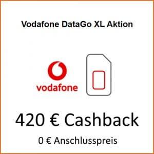 Vodafone DataGo XL mit 420 € Cashback bei LogiTel