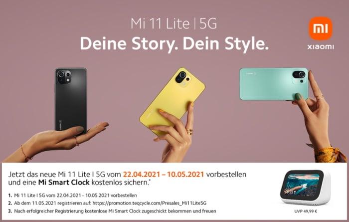 Xiaomi Mi 11 Lite (5G) Vorbesteller-Aktion