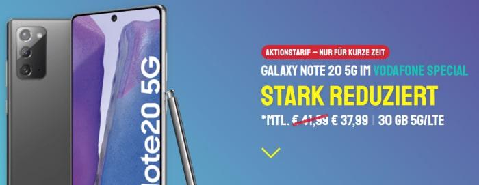 Samsung Galaxy Note mit Vodafone Smart XL bei Sparhandy