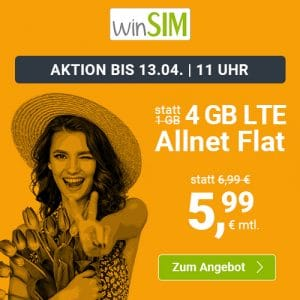 winSIM 4 GB LTE für 5,99 €