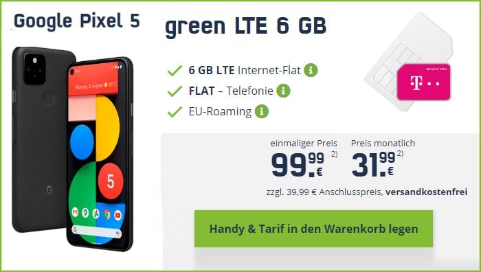 Google Pixel MD green LTE Telekom mobilcom-debitel 6 GB