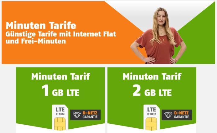 Die neuen klarmobil Minuten Tarife im Telekom-Netz