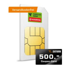 500 € Coupon bei Saturn zum green LTE 30 GB