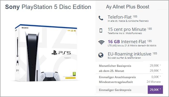 Ay Yildiz Ay Allnet mit Sony PlayStation 5 Disc Edition bei FLYmobile