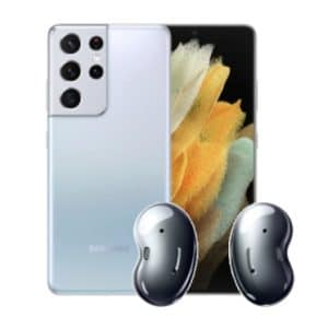 Galaxy S21 Ultra mit Galaxy Buds Live