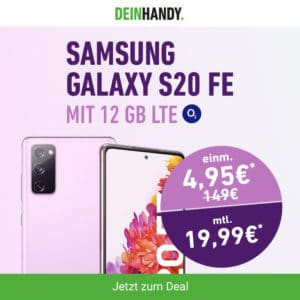 Samsung Galaxy S20 FE + o2 Blue All-In M bei DeinHandy