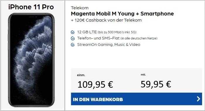 iPhone 11 Pro + Telekom MagentaMobil M bei Preisboerse24