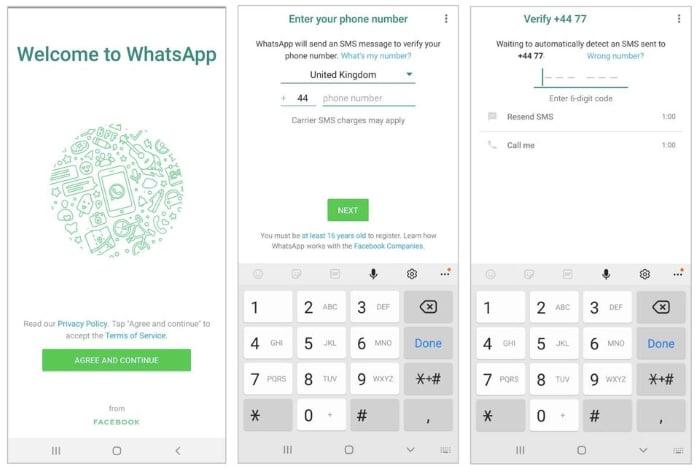 WhatsApp Hack SMS-Code