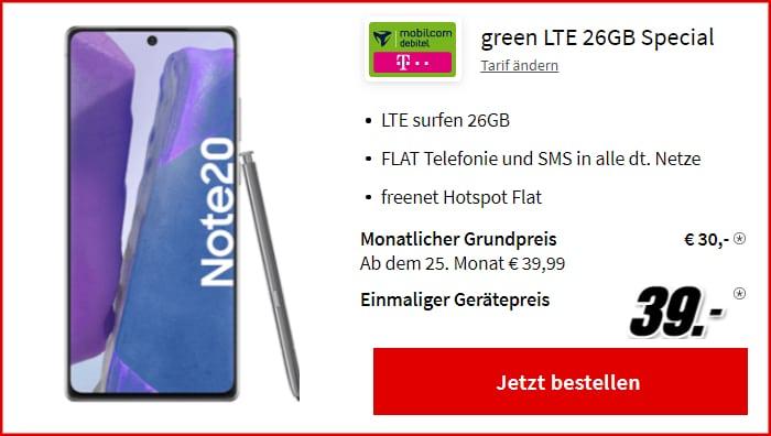 Galaxy Note 20 Md Green LTE Mediamarkt