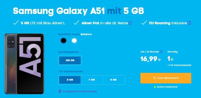 Samsung Galaxy A51 mit Blau Allnet XL bei Blau