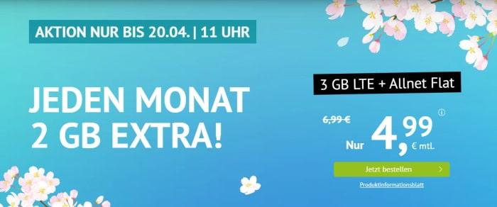 handyvertrag LTE All 1 GB Aktion April 2021