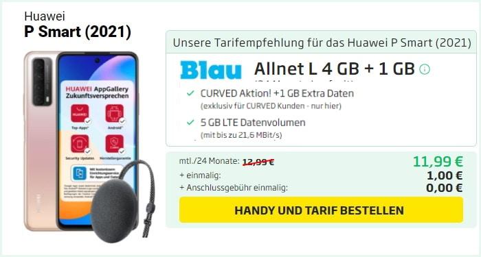 Huawei P Smart 2021 Blau Allnet 5 GB