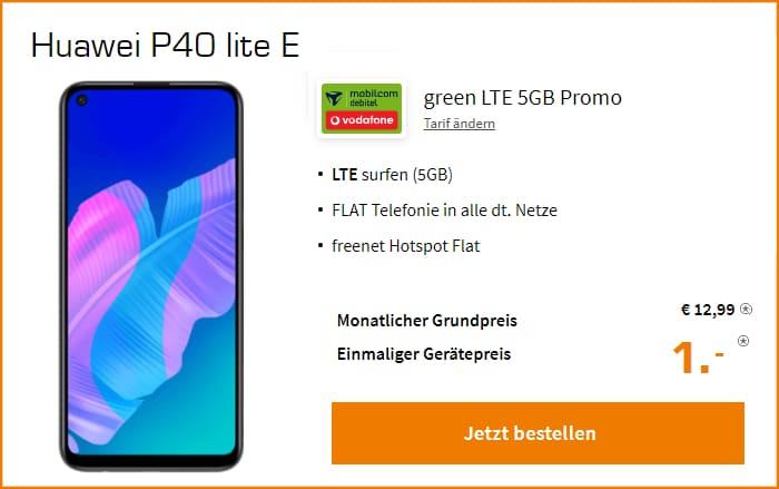 Huawei P40 Lite E Green LTE 5 GB Saturn