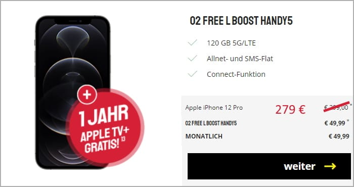 iphone 12 pro o2 free l boost sparhandy