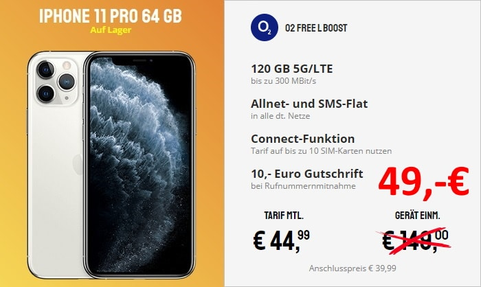 iPhone 11 Pro + o2 Free L Boost bei Sparhandy
