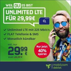 mobilcom-debitel o2 Free Unlimited Max bei Vitrado Thumbnail