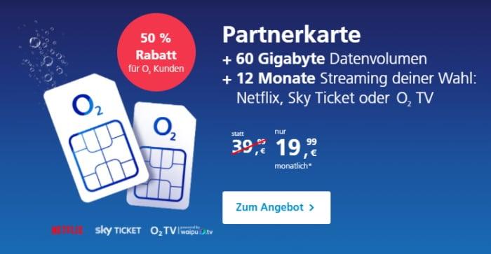o2 Partnerkarte Aktion April 2021