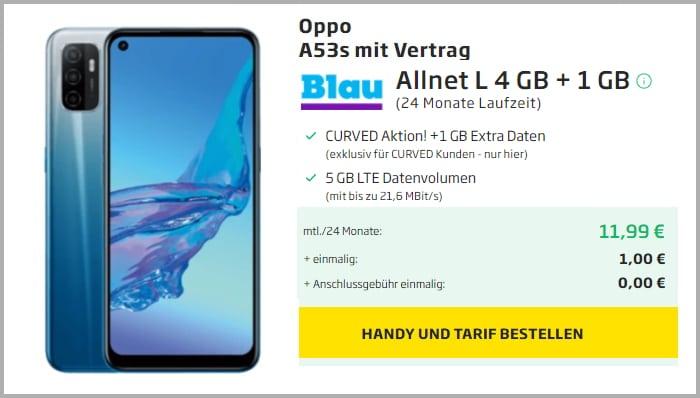 Oppo A53S Blau Allnet L Curved