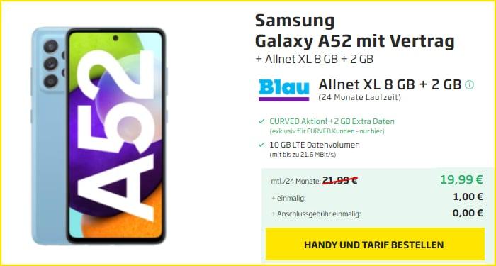 Samsung Galaxy A52 Blau Allnet XL Curved
