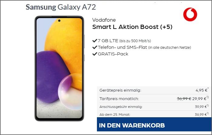 Samsung Galaxy A72 Vodafone Smart L Preisboerse24