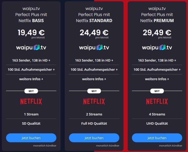 waipu tv netflix pakete April 2021