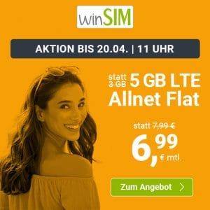 winSIM LTE All 3 GB Aktion April 2021 Thumbnail