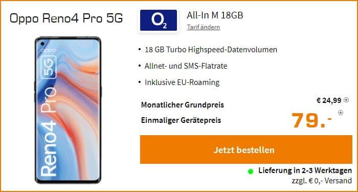 Oppo Reno4 Pro 5G O2 All In M 18 GB Saturn