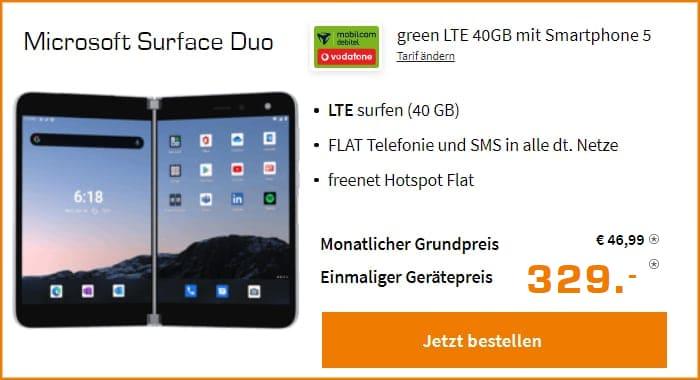 Microsoft Surface Duo Green Lte 40 GB Saturn