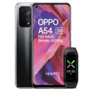 Oppo A54 5G mit Fitnessband