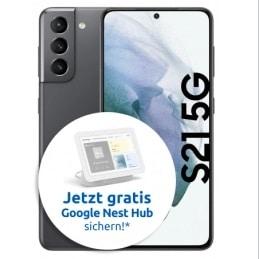 Samsung Galaxy S21 5G mit Google Nest Hub