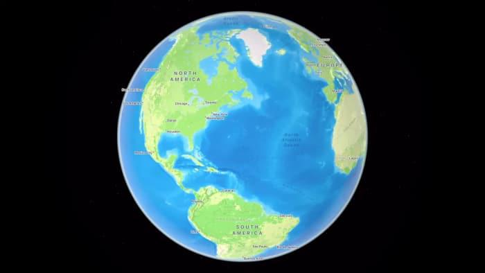 Globus in Apple Maps in iOS 15